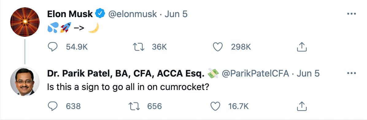 CumRocket Pump dank Elon Musk