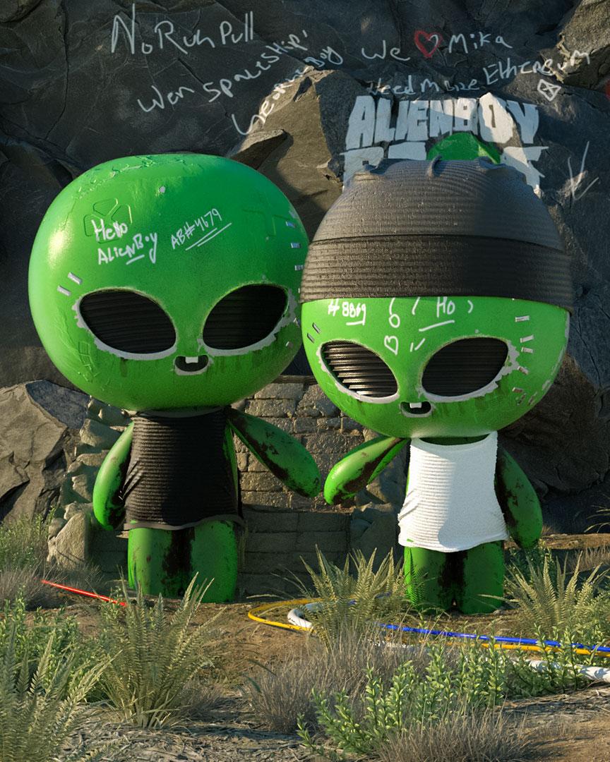 The Alien Boy Bros NFT Sammlung